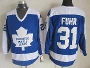 Mens Nhl Toronto Maple Leafs #31 Fuhr Blue Throwbacks Jersey Dt