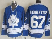 Mens Nhl Toronto Maple Leafs #67 Stanleycup Blue Throwbacks Jersey Dt