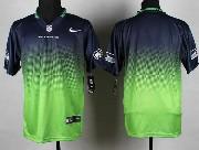 Mens Nfl Seattle Seahawks (blank) Blue&green Drift Fashion Ii Elite Jersey
