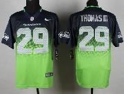 Mens Nfl Seattle Seahawks #29 Thomas Iii Blue&green Drift Fashion Ii Elite Jersey