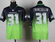 mens nfl Seattle Seahawks #31 Kam Chancellor blue&green drift fashion ii elite jersey