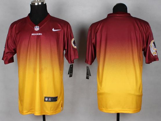 Mens Nfl Washington Redskins (blank) Red&yellow Drift Fashion Ii Elite Jersey