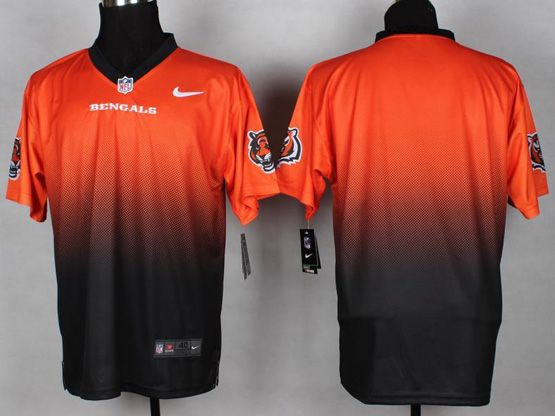 Mens Nfl Cincinnati Bengals (blank) Orange&black Drift Fashion Ii Elite Jersey