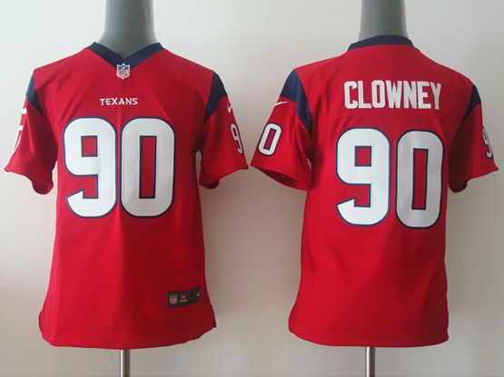 Youth Nfl Houston Texans #90 Clowney Red Game Jersey