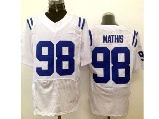 Mens Nfl Indianapolis Colts #98 Mathis White Elite Jersey