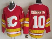 Mens Nhl Calgary Flames #10 Roberts Red Throwbacks Jersey Dt