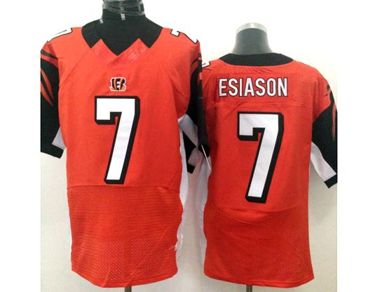 Mens Nfl Cincinnati Bengals #7 Esiason Orange Elite Jersey