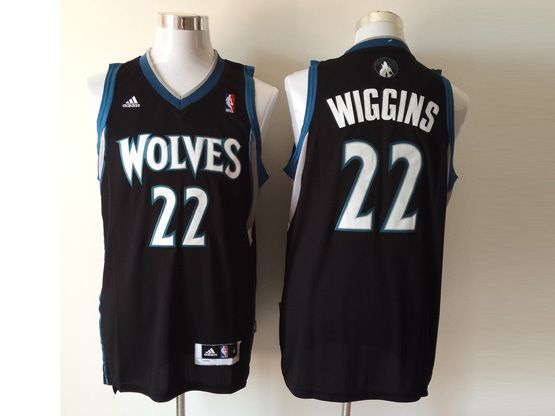 Mens Nba Minnesota Timberwolves #22 Wiggins Black Revolution 30 Jersey (p)