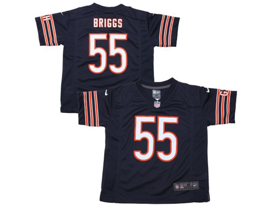 Kids Nfl Chicago Bears #55 Briggs Blue Jersey