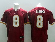 Mens Nfl Washington Redskins #8 Cousins Red (white Number) (2013 New) Elite Jersey