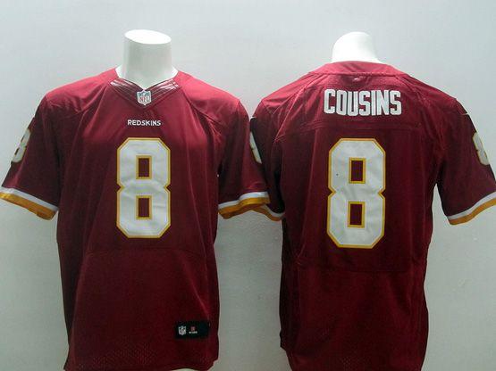 Mens Nfl Washington Redskins #8 Cousins Red (white Number) (2013 New) Elite Jersey