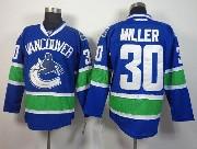 Mens reebok nhl vancouver canucks #30 miller blue Jersey