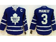 Youth Reebok Nhl Toronto Maple Leafs #3 Phaneuf Blue Jersey C Patch (dt)
