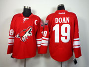 Mens reebok nhl arizona coyotes #19 doan red c patch Jersey