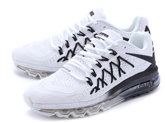 Women Air Max 2015 V2 The Patriot Running Shoes Color White&black