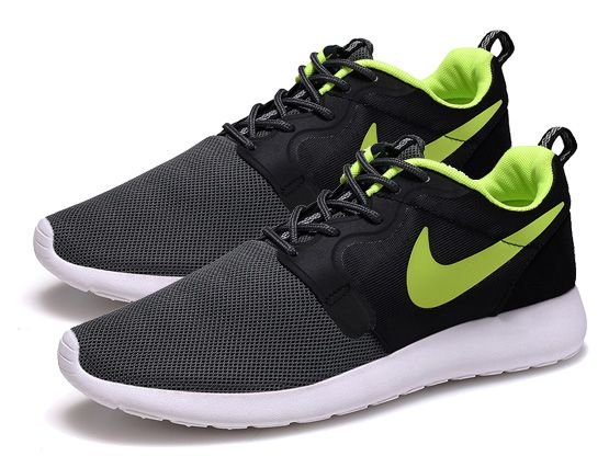 Women    2014 Roshe Run Hyperfuse Shoes Color Black&gray&green&white