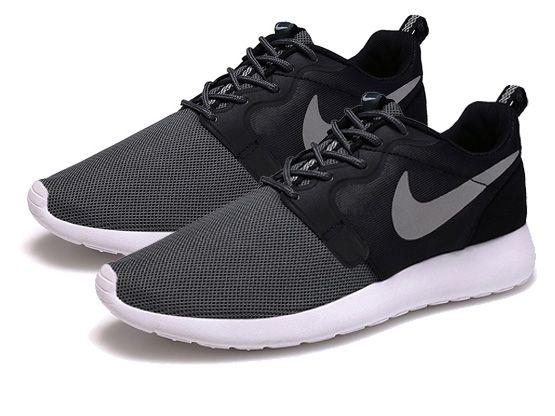 Women    2014 Roshe Run Hyperfuse Shoes Color Black&gray&white&white