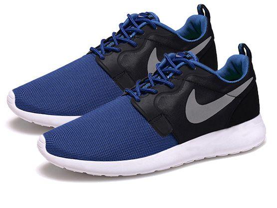 Women    2014 Roshe Run Hyperfuse Shoes Color Black&blue&white&white