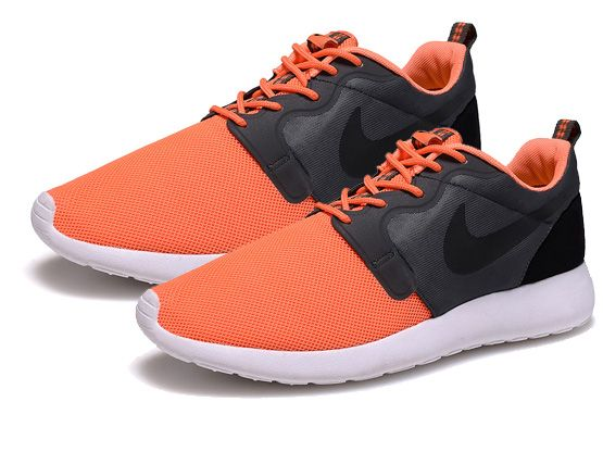 Women    2014 Roshe Run Hyperfuse Shoes Color Black&orange&white