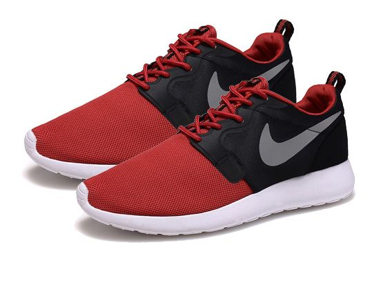 Women    2014 Roshe Run Hyperfuse Shoes Color Black&red&white