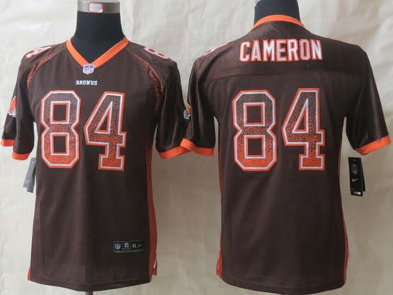 Youth Nfl Cleveland Browns #84 Cameron Brown 2014 Drift Fashion Elite