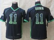 Youth Nfl Seattle Seahawks #11 Harvin Blue 2014 Drift Fashion Elite