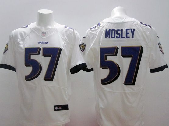 Mens Nfl Baltimore Ravens #57 C. J Mosley (2014 New) White Elite Jersey