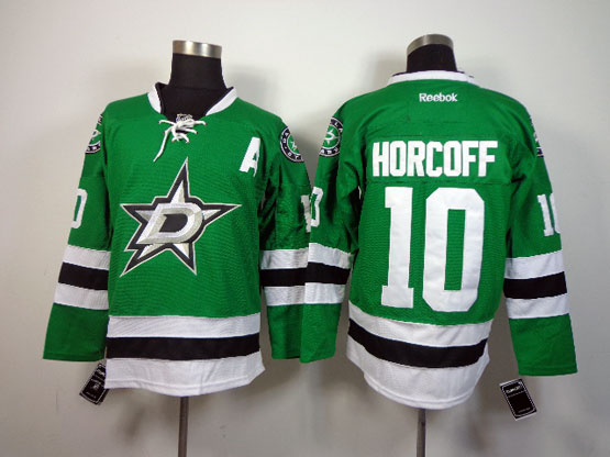 Mens reebok nhl dallas stars #10 horcoff green a patch Jersey