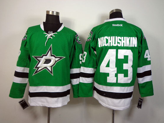 Mens reebok nhl dallas stars #43 nichushkin green Jersey
