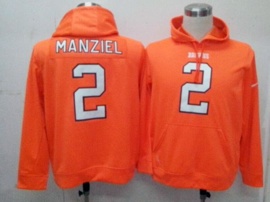 Mens Nfl Nfl Cleveland Browns #2 Manziel Orange Hoodie Jersey