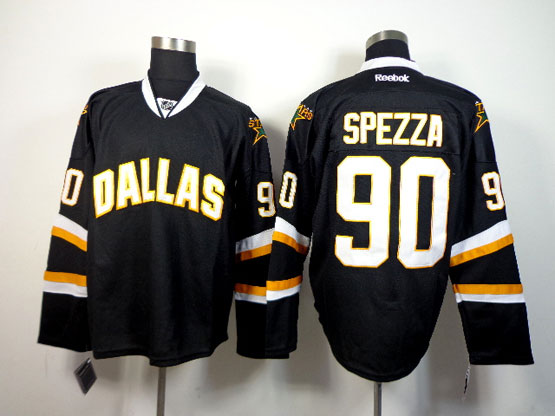 Mens reebok nhl dallas stars #90 spezza black Jersey