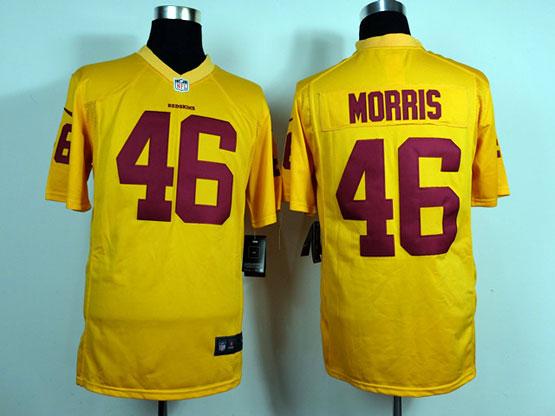 Mens Nfl Washington Redskins #46 Morris Yellow Game Jersey
