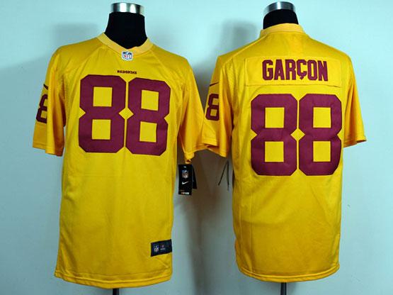 Mens Nfl Washington Redskins #88 Garcon Yellow Game Jersey