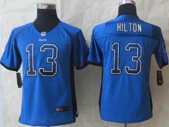 Youth Nfl Indianapolis Colts 13 Hilton Blue (2014 New Drift Fashion) Elite Jersey