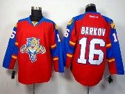 Mens reebok nhl florida panthers #16 barkov red Jersey