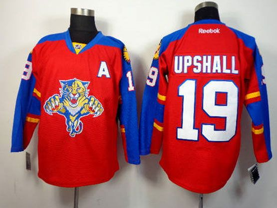 Mens reebok nhl florida panthers #19 upshall red a patch Jersey