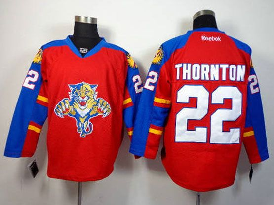 Mens reebok nhl florida panthers #22 thornton red Jersey