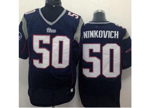 Mens Nfl New England Patriots #50 Ninkovich Blue Elite Jersey