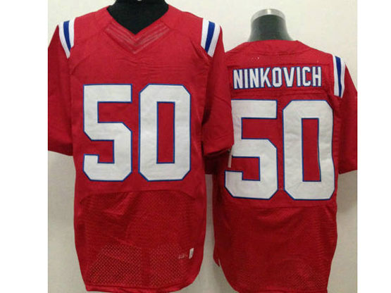 Mens Nfl New England Patriots #50 Ninkovich Red Elite Jersey