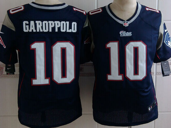 Mens Nfl New England Patriots #10 Garoppolo Blue Elite Jersey