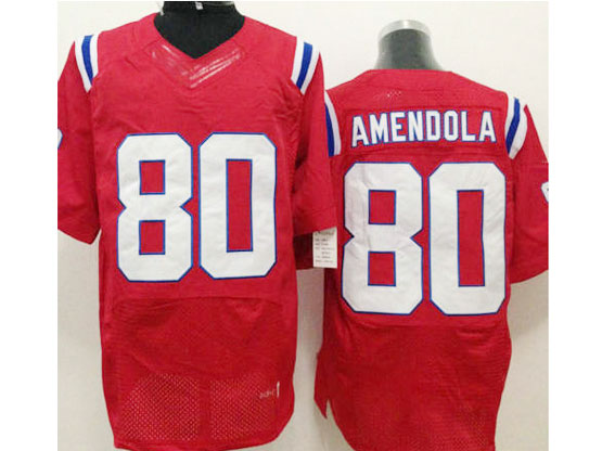 Mens Nfl New England Patriots #80 Amendola Red Elite Jersey