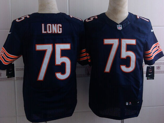 Mens Nfl Chicago Bears #75 Kyle Long Blue Elite Jersey