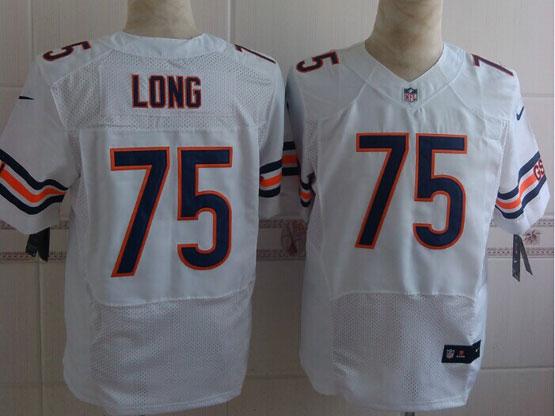 Mens Nfl Chicago Bears #75 Kyle Long White Elite Jersey