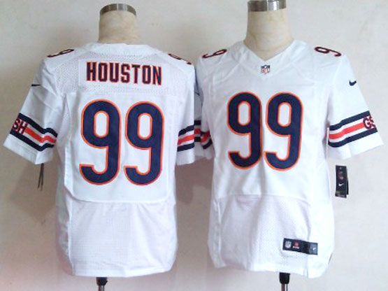 Mens Nfl Chicago Bears #99 Houston White Elite Jersey(sn)