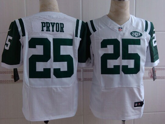 Mens Nfl New York Jets #25 Pryor White Elite Jersey