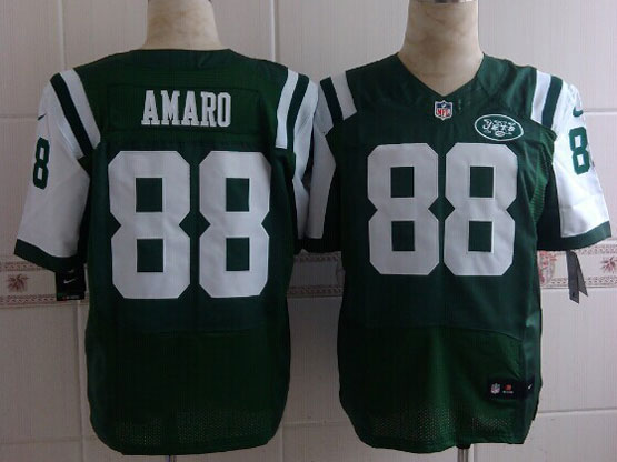 Mens Nfl New York Jets #88 Amaro Green Elite Jersey