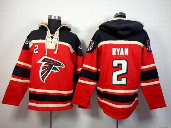 Mens Nfl Atlanta Falcons #2 Ryan Red (team Hoodie) Jersey
