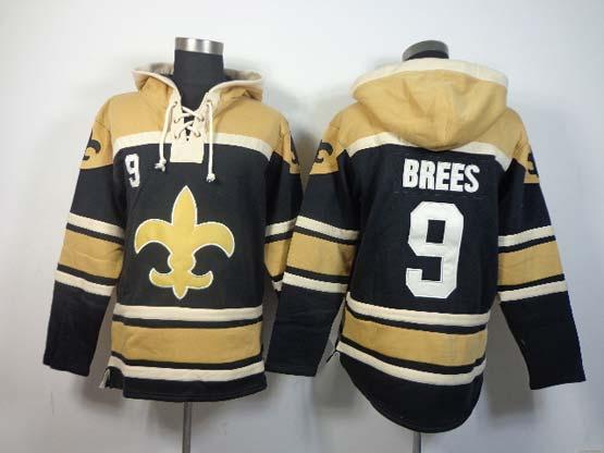 Mens Nfl New Orleans Saints #9 Brees Black (team Hoodie) Jersey