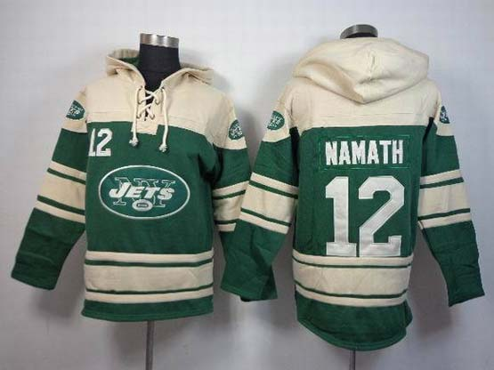 Mens Nfl New York Jets #12 Namath Green (team Hoodie) Jersey