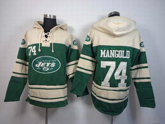 Mens Nfl New York Jets #74 Mangold Green (team Hoodie) Jersey